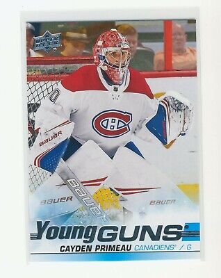 2019-20 Upper Deck Series 2 Cayden Primeau Young Guns Rookie Rc #454