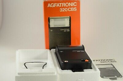 Vintage Flash AGFATRONIC 320 bcs In Original Box with instructions and cord