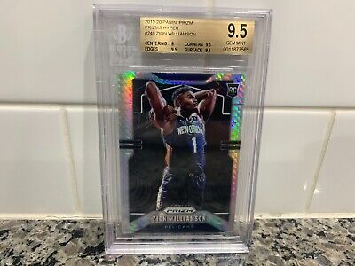 2019-20 Panini Prizm Zion Williamson Hyper Hobby Silver Rookie RC BGS Graded 9.5