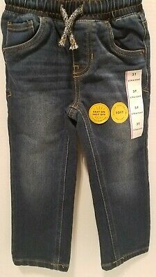 Toddler Boys Cat and Jack Jeans Size 3t Adjustable Waist Straight Fit