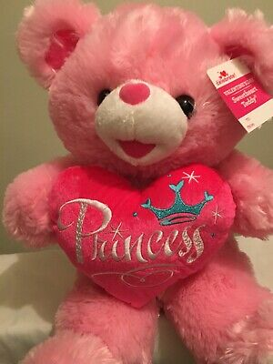Way To Celebrate Valentine's Day Pink Princess Sweetheart Teddy Bear
