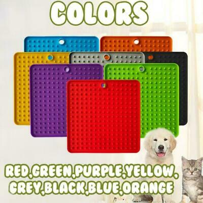 Pet Lick Food Mat For Dogs Cats Licky Slow Feeder Feeding Dog Licki New Mat T4Y7