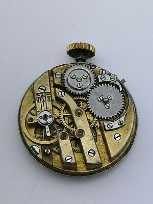 Small Quality Wolfs Teeth Pocket Watch Movement for Repair, Snap on Dial (AC39)