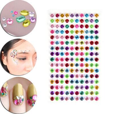 Round Decal Scrapbooking Self Adhesive Rhinestone Bling Stickers Crystal RACNI