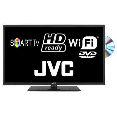"JVC LT-24C695 24"" Smart LED TV DVD Combi HD Ready Freeview HD With Freeview Play"
