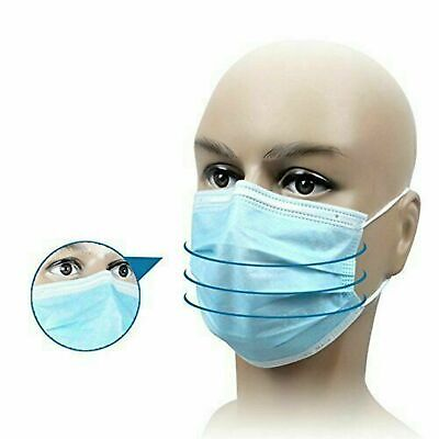 50 PCS 3Ply Disposable Face Mask Industrial Surgical Medical Dental Anti Disease