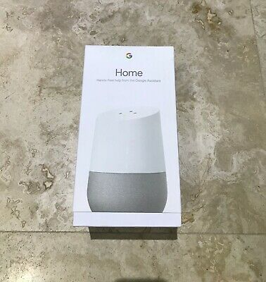 Google Home Smart Assistant & Speaker - White Slate Brand New Sealed Box