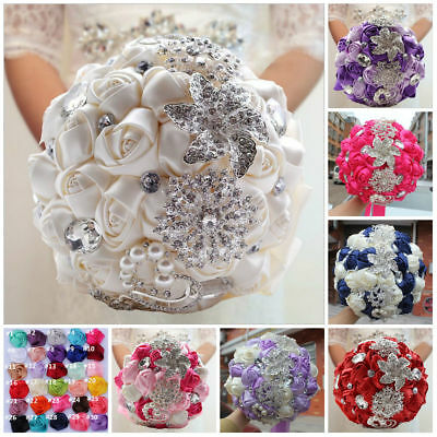 Bridal Bouquet Colors after Optional Rhinestone Registry Wedding Roses Brooches