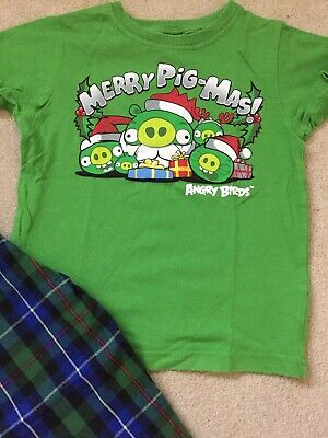 Next Boys Angry Birds Christmas Pyjamas Size 3 Years Excellent condition!