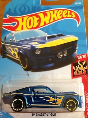 NEW 2019 Hot Wheels '67 Shelby GT500 Ford Mustang Flames Series RARE