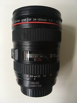 Canon EF 24-105mm F/4.0 L IS USM Zoom Lens hardly used in excellent condition.