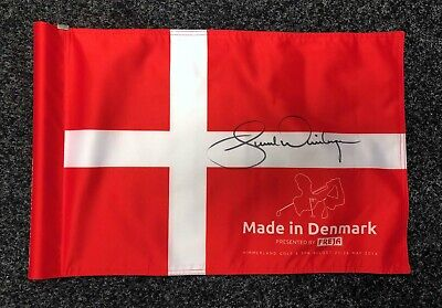Bernd WIESBERGER Signed Course Used Made in Denmark Golf Flag AFTAL COA