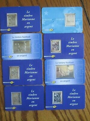 Timbre France Lot Cartes Timbres Argent