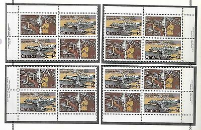 pk48334:Stamps-Canada #766a Natural Resources 14 cent set of  Plate Blocks-MNH