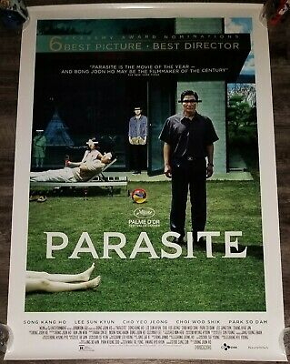 PARASITE Original 27x40 Theatrical Movie Poster DS Joon-ho Bong Oscar Winner