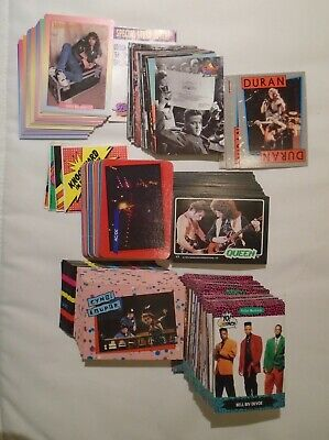 Lot of 250 DIFFERENT 70's 80s Music Non-Sports Cards. VG to Mint.
