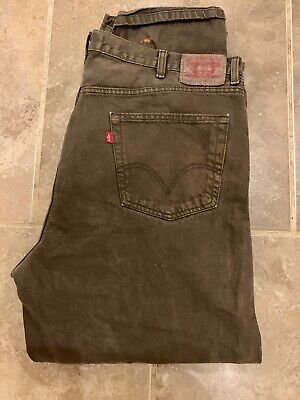 Mens Levi Strauss Red Tab 550 Relaxed Fit Jean - W44 L32- Brown