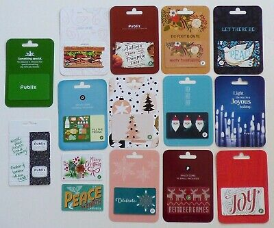 PUBLIX Gift Cards Collectible - Grocery / Food - LOT of 15 Different - No Value