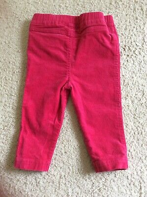 Cute Blue Zoo Baby Girl Pink Corduroy Jeans Trousers Bottoms Age 6-9 Months
