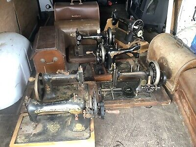 Antique Sewing Machine Collection X 6 Barn Find Lincolnshire