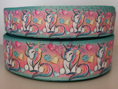 Unicorn Ribbon 38mm wide 1m long
