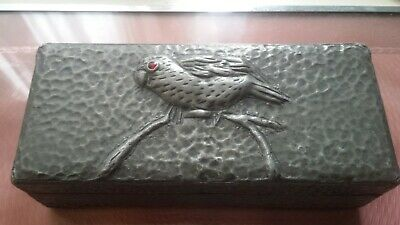 Lovely Original Arts And Crafts , Pewter On Wood Box And One Other.
