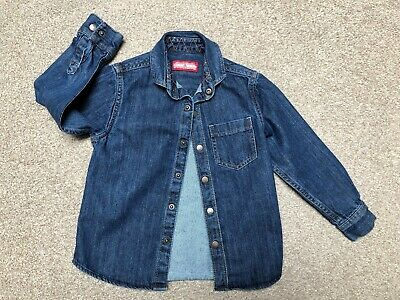 NEXT Boys Dark Blue Long Sleeve Denim Shirt Age 5 Years Perfect Condition