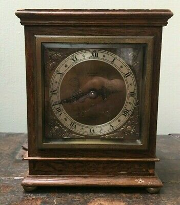 A Lovely Vintage Elliott Mantle Clock J A Haskell Ipswich Engraved Working