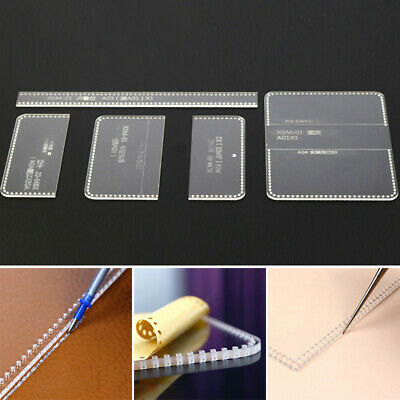 DIY Handmade Leather Craft Clear Acrylic Mould Pattern Stencil Wallet Template