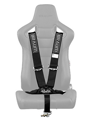 "BRAUM Racing 5 Point 3"" SFI Approved Racing Harness - Black"