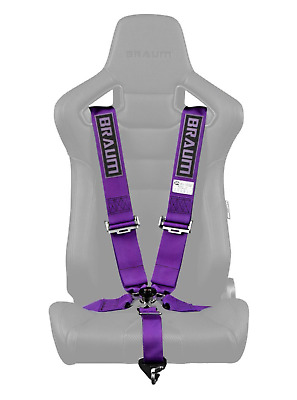 "BRAUM Racing 5 Point 3"" SFI Approved Racing Harness - Purple"