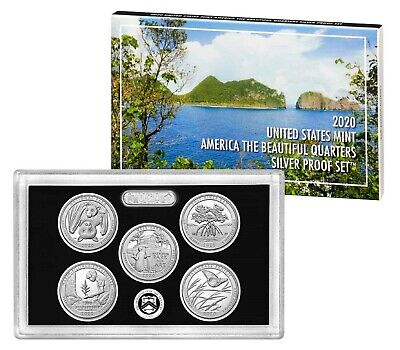 2020 America The Beautiful National Parks Quarter SILVER Proof Set with OGP