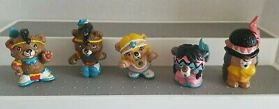 Vintage Hanna Barbera Paw Paws 1985 Applause PVC Mini Figures Lot Bears Indian