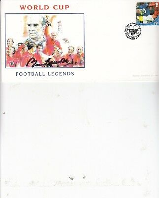 Bobby Charlton Hand Signed World Cup 2002 First Day Cover Unaddressed