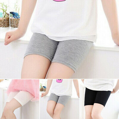 Girls Toddlers Fit Shorts Pants Elastic Stretchy Solid Underwear Safety Leggings