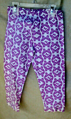 FLAPDOODLES 100% Cotton Full Length BUTTERFLY Legging  GIRL SIZE 8 TOD NWT