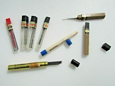 Mixed lot PENTEL 0.5mm Pencil Lead Refills *one Cross and one eraser tube