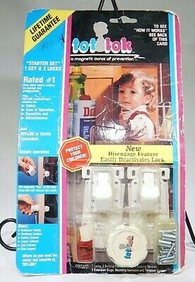 Magnetic Tot Lok Starter Set System with 2 Locks and One Key TF