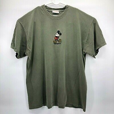 Vintage Disneyland Mens XL Tee Shirt Mickey Mouse Embroidered Made in USA