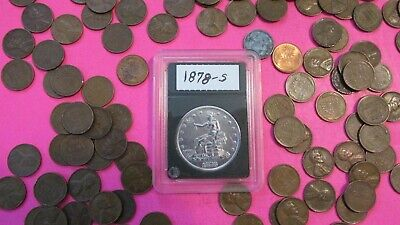"1878-s Silver Trade Dollar""Key Date""high grade reflective mirrors plus""FREEBIES."
