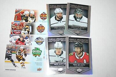 2019-20 UD Tim Hortons NHL Key Season Events & Highly Decorated lot of 8