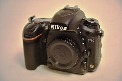 Nikon D750 24.3MP DSLR Camera - Black (Body Only), Exc Cond, USA Model