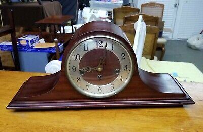 Lovely German Welby 8 Day Key Wind Westminster Chime Clock Strong Runner