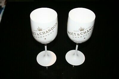 Moet & Chandon Ice Imperial Champagner Glas Acryl Becher Limited Edition 2 Stück