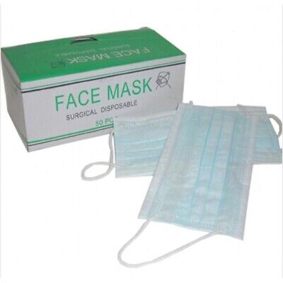 Disposable Surgical Face  Ear Loop Dust Salon Medical Mouth Flu Mask 50 Pc