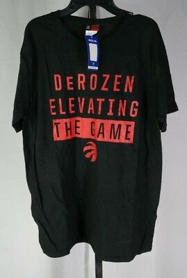 Majestic NBA Toronto Raptors DeRozan Elevating The Game T-Shirt Mens Black L T3