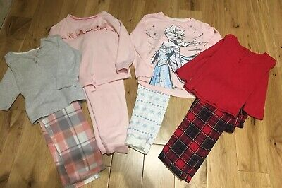Girls Pyjama Bundle Age 5-6 Years 4 Pairs M&S Disney Frozen VGC