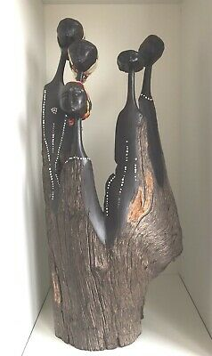 South African Art Hand Carved Wood Statue
