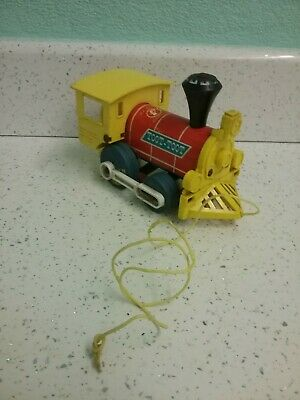 Vintage Fisher Price Toot Toot Train Pull Along Toy 1974.