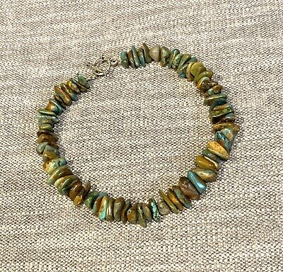 Natural Chinese Turquoise Nugget Bead Strand Southwestern Artisan Necklace